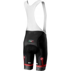 Pantaloni scurti cu bretele Castelli Volo Negru/Alb L