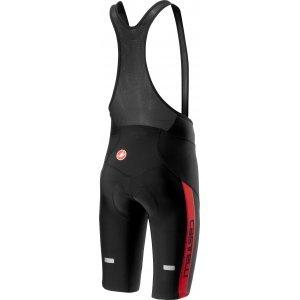 Pantaloni scurti cu bretele Castelli Velocissimo 4 Negru/Rosu M