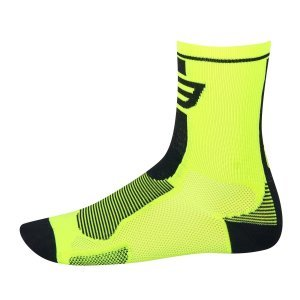 Sosete Force Long fluo/negru L-XL